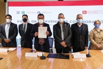 Azcapotzalco y Gobierno CDMX firman convenio en favor de grupos de atención prioritaria