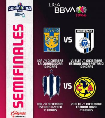 Confirman fechas y horarios de las semifinales de la Liga MX Femenil