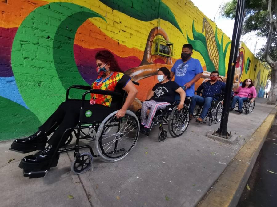 Personas con discapacidad verifican accesibilidad en obras de la alcaldía Iztapalapa