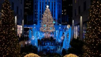 Nueva York enciende las luces del árbol de Rockefeller para inaugurar la Navidad