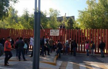 Maestros y padres de familia de Telebachilleratos de Chiapas, bloquean Cámara de Diputados