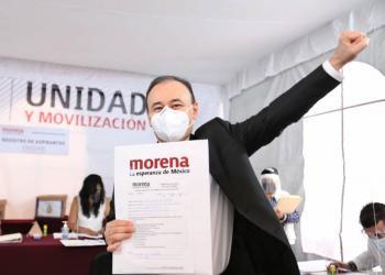 Alfonso Durazo se registra como precandidato de Morena a la gubernatura de Sonora