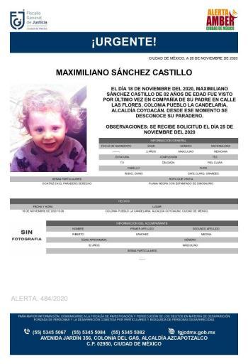 Niño de 2 años desaparece, su madre afirma que lo tiene su padre