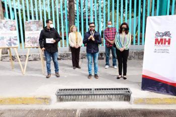 Alcaldía Miguel Hidalgo entrega obras en la red de drenaje