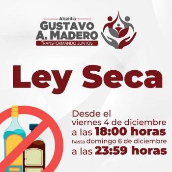Habrá ley seca en la Alcaldía Gustavo A. Madero