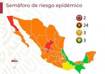 Veracruz, tercer estado en pasar a semáforo verde; Baja California y Zacatecas en rojo