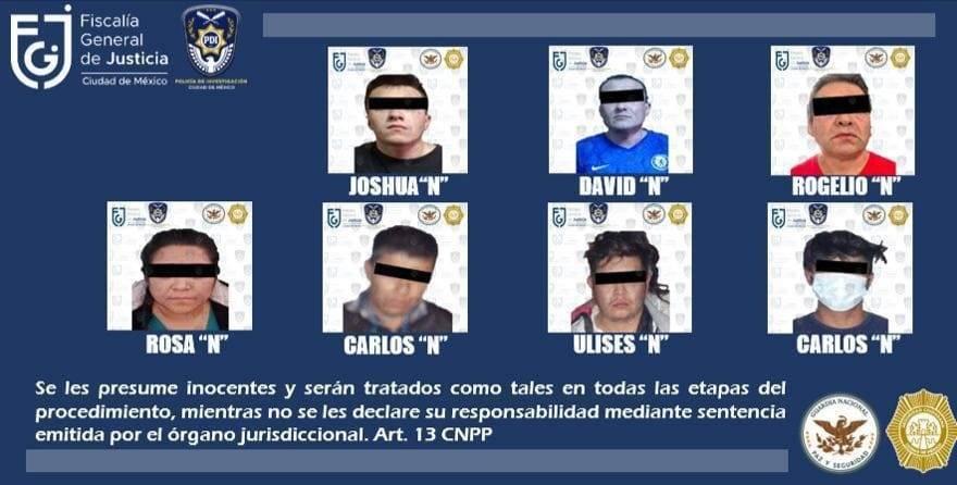 SSC CDMX logró la captura de 7 personas y mas de 600 dosis de narcóticos