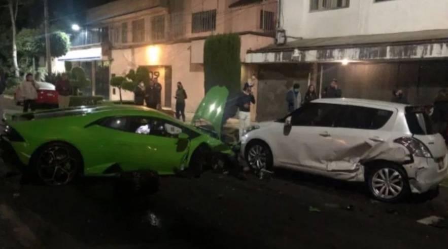 Se presenta ante la FGJ, sujeto que conducía Lamborghini chocado en Polanco