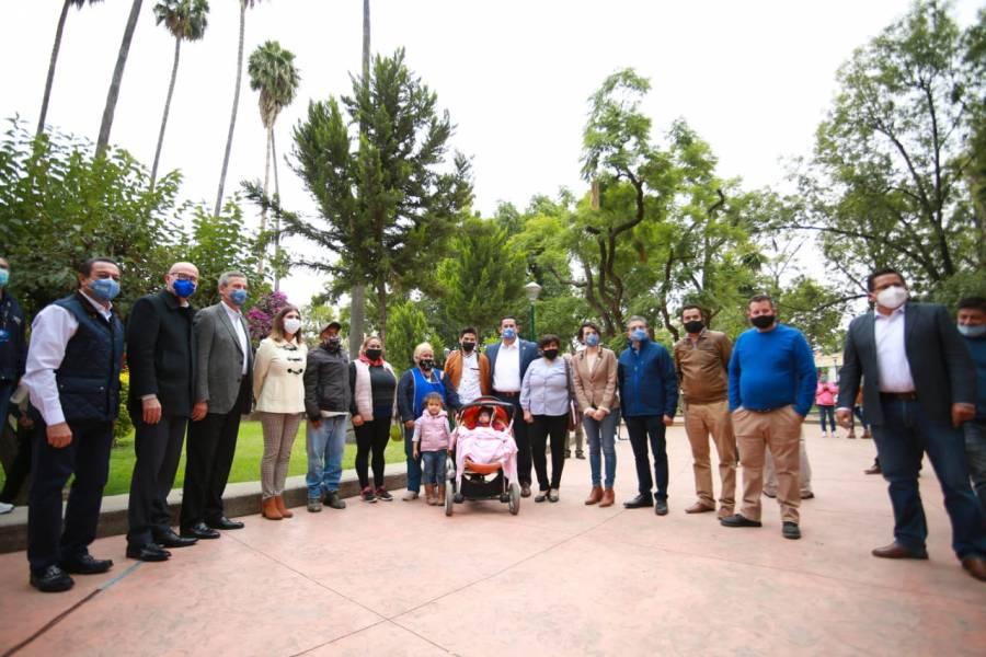 En León, entregan última etapa de la rehabilitación del Parque Hidalgo