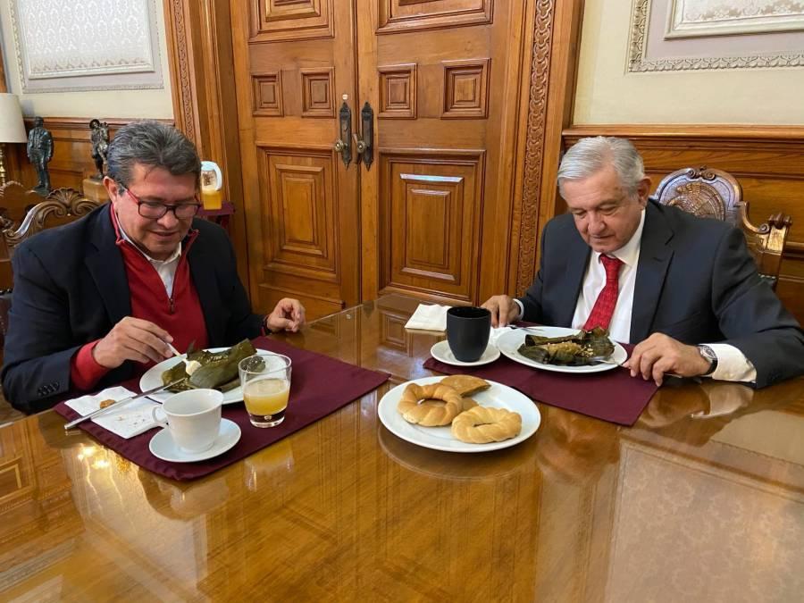Presidente se reúne con Ricardo Monreal para hablar de sus iniciativas que faltan por aprobar