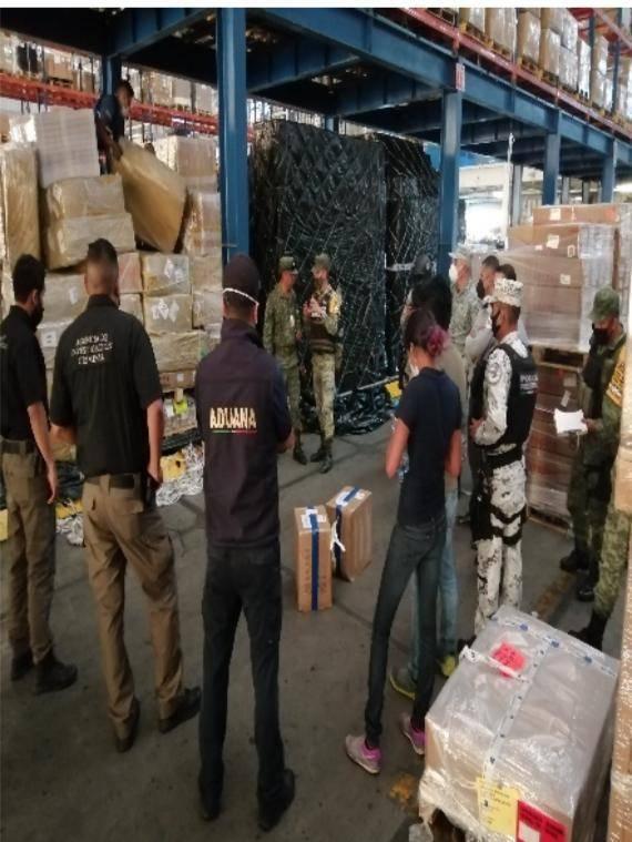 Autoridades impiden ingreso de 55 kilos de fentanilo en Aduana de Guadalajara