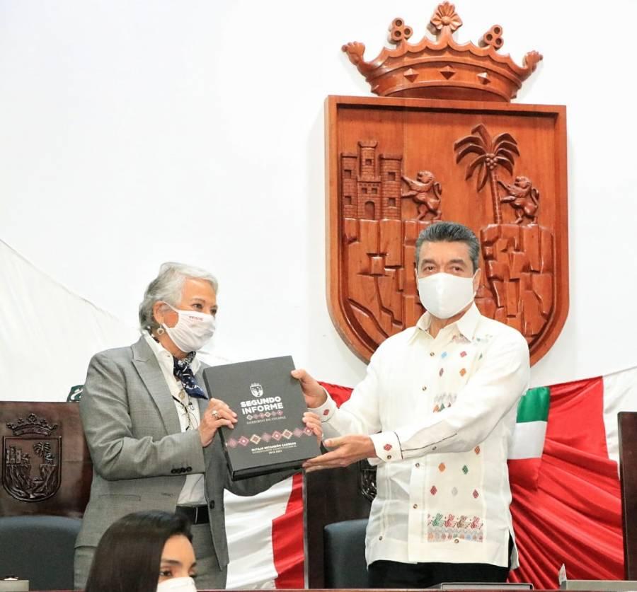 Rutilio Escandón presenta su Segundo Informe de Gobierno
