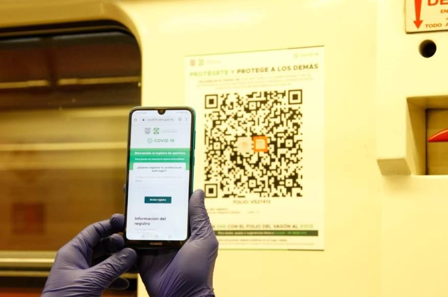 Metro pide a usuarios utilizar Código QR para evitar contagios de COVID-19