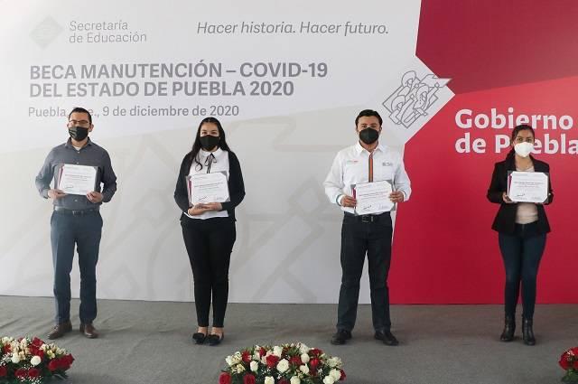 Beca Manutención Covid-19 beneficiará a 9 mil estudiantes en Puebla