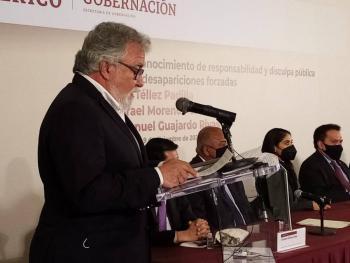 Reto del Estado mexicano erradicar desaparición forzada: Encinas