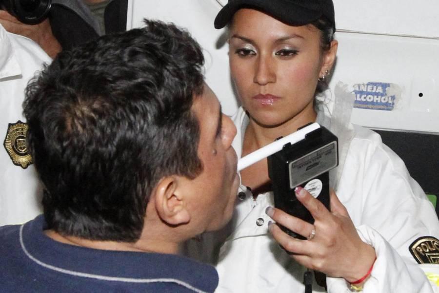 """Activan """"alcoholímetro"""" permanente por fiestas decembrinas en CDMX"""