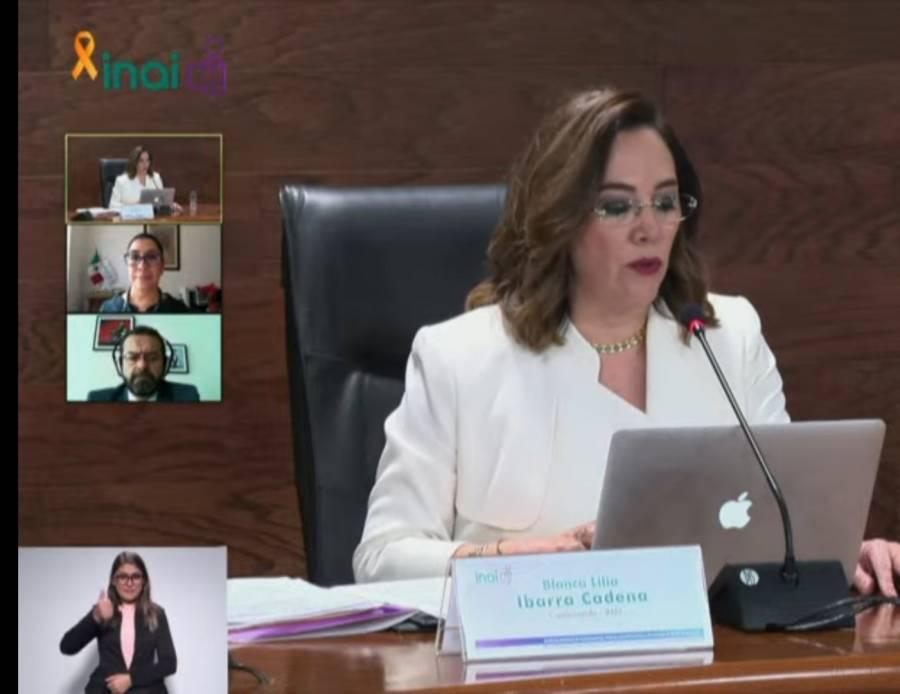 Blanca Lilia Ibarra, nueva presidenta del Inai