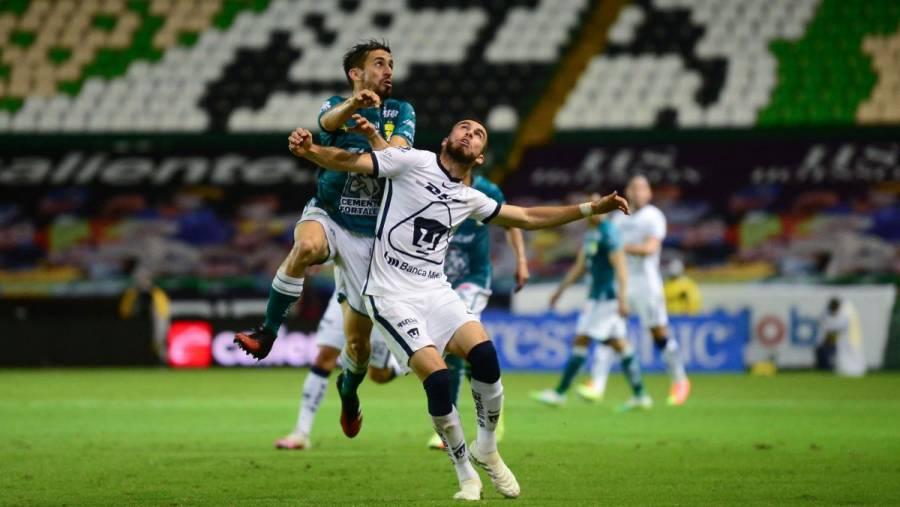León iguala a Pumas en la final de ida de la Liga MX