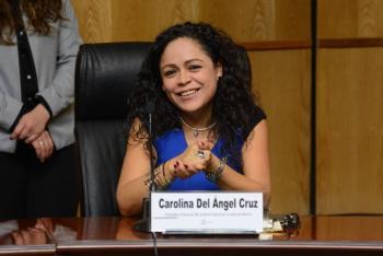 """Carolina del Ángel Cruz: """"Las mujeres van por la mitad de candidaturas si o si"""""""