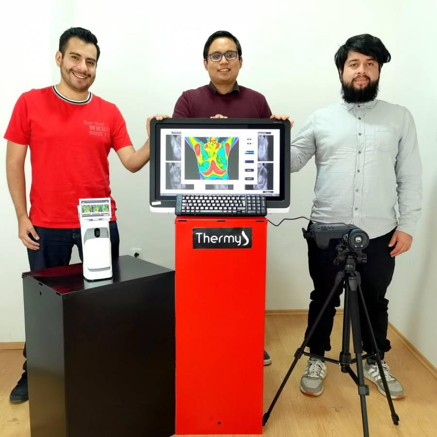 Alumnos del IPN ganan Premio Santander por dispositivo para detectar cáncer de mama