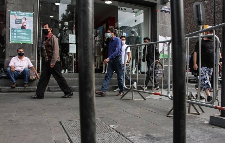 Unifica SEDECO a comercios y tiendas departamentales para su cierre en el Centro Histórico por COVID-19