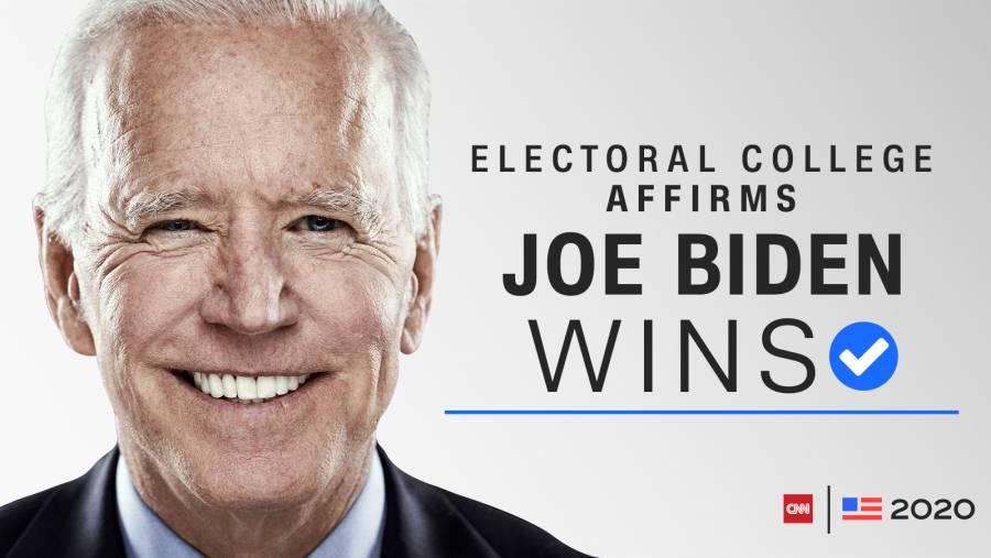 Ratifica Colegio Electoral de EE. UU. Triunfo de Biden