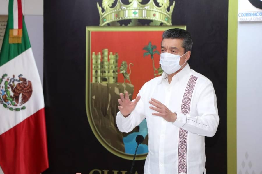 Rutilio Escandón agradece a AMLO por permanecer atento a las necesidades de Chiapas