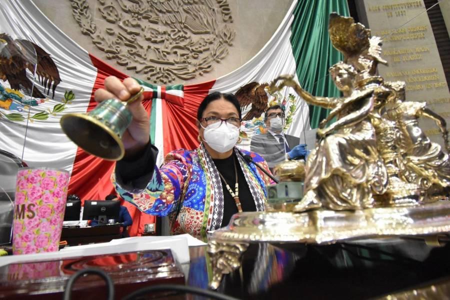 Presidenta de la Cámara de Diputados pide que AMLO use cubrebocas como regalo de Navidad