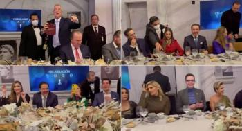 No hay temor por Covid19 en TV Azteca, realizan fiesta de fin de año