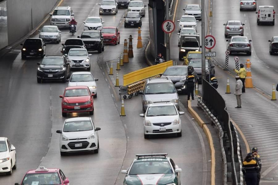 Suspenderán carriles reversibles en Circuito Interior el próximo lunes