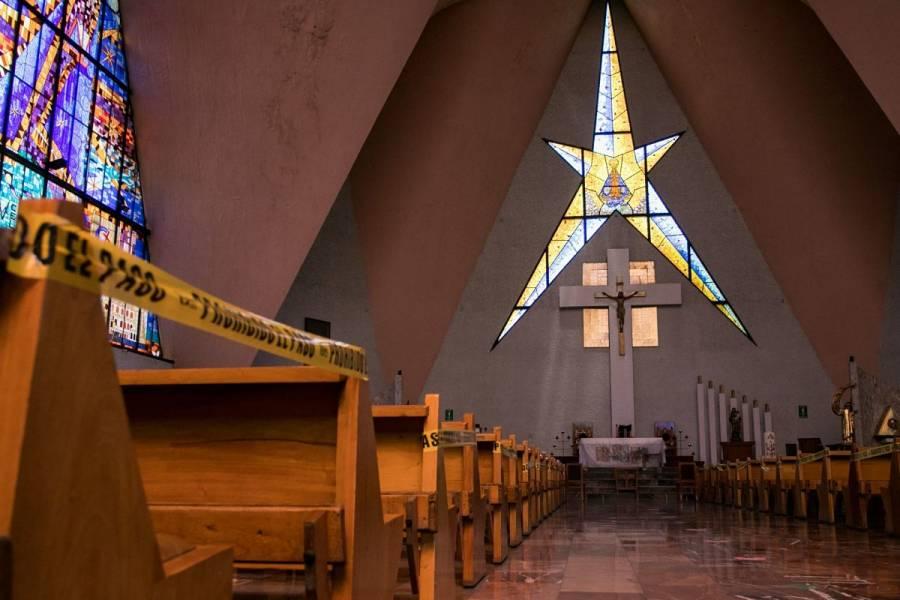 Iglesia cancela misas presenciales por semáforo rojo en CDMX y Edomex