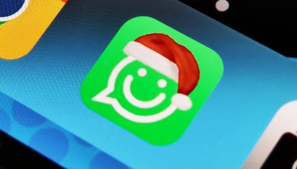 Puedes cambiar el ícono de WhatsApp por uno con gorrito de Navidad