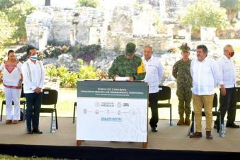 AMLO anuncia que fuerzas armadas operarán Tren Maya y Aeropuerto Felipe Ángeles y de Tulum
