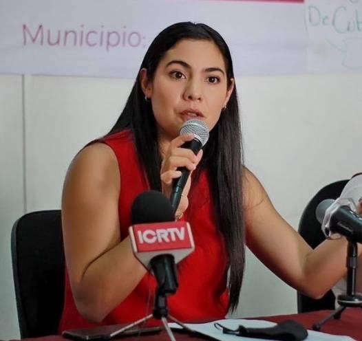 Indira Vizcaíno, precandidata de Morena a la gubernatura de Colima