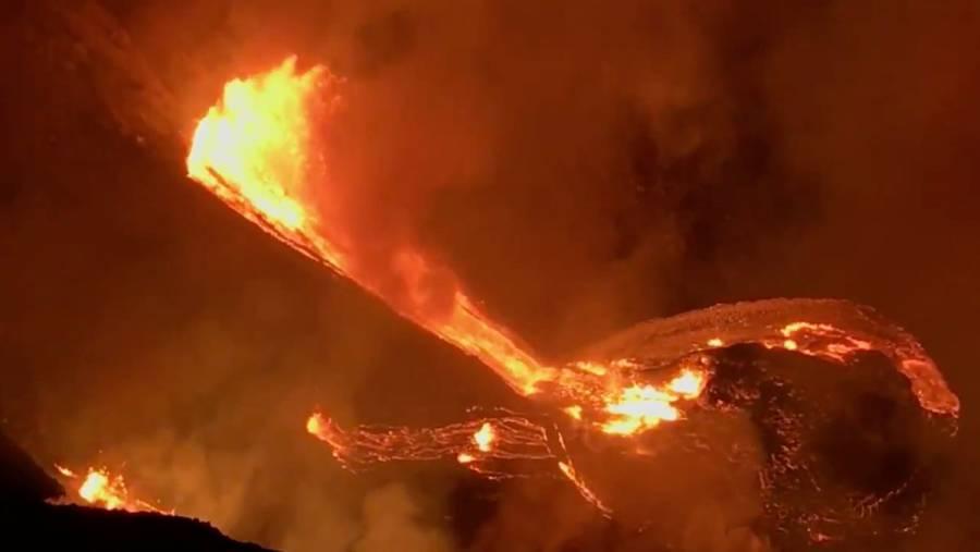 Volcán Kīlauea entra en erupción en Isla Grande de Hawái