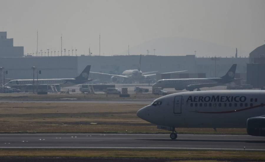 Seneam retrasa vuelos en AICM