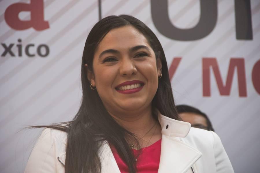 Ella es Indira Vizcaíno, precandidata de Morena a la gubernatura de Colima