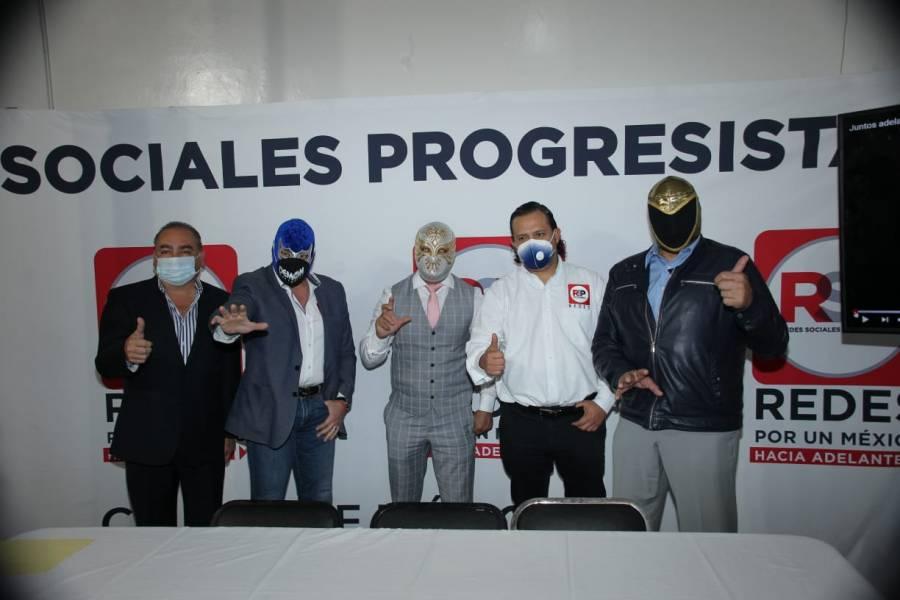 Blue Demon, Carístico y Tinieblas inauguran nueva sede capitalina del RSP
