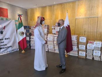 Qatar entrega ayuda humanitaria para damnificados en Tabasco y Chiapas