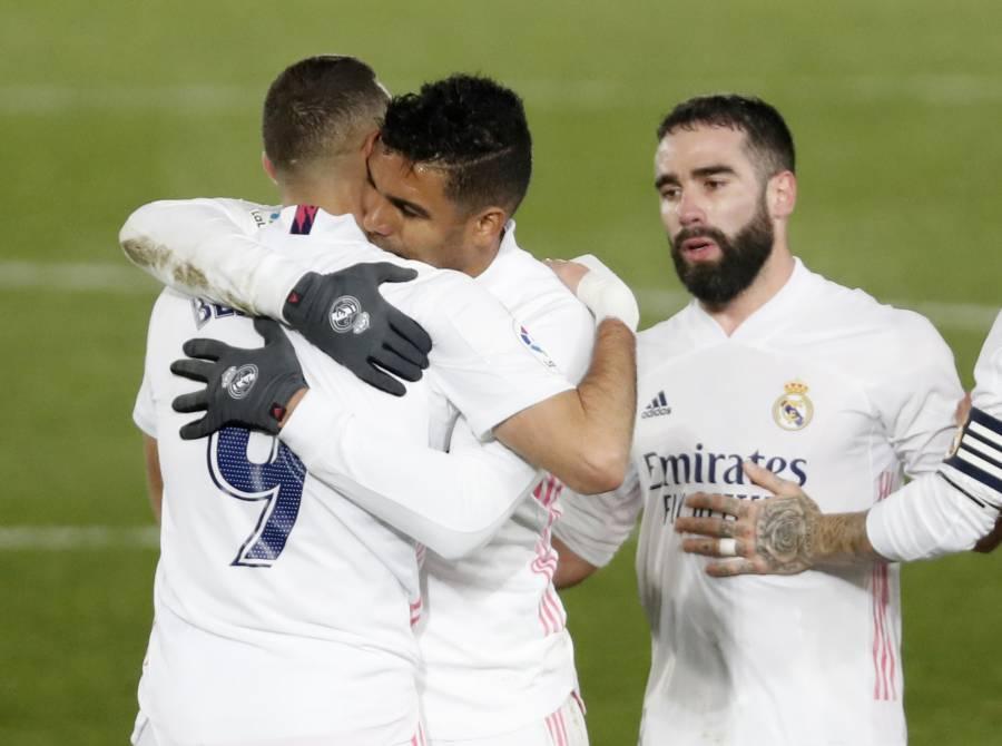 Casemiro y Benzema ponen al Real Madrid colíder en LaLiga