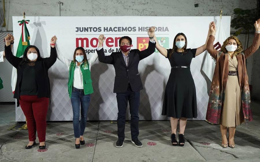 """Concretan Morena, PVEM y PT alianza """"Juntos haremos historia"""""""