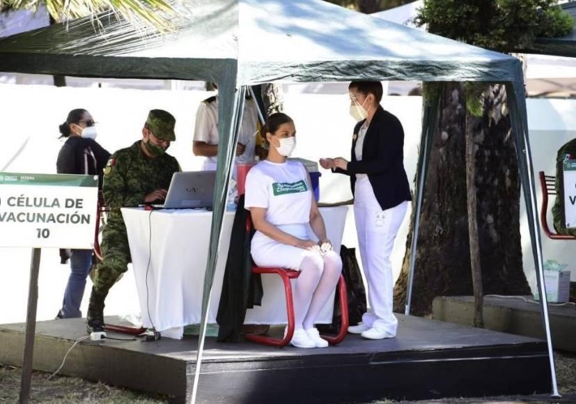 Reanudan jornada de vacunación contra COVID-19 en el 81 Batallón de Infantería en la CDMX
