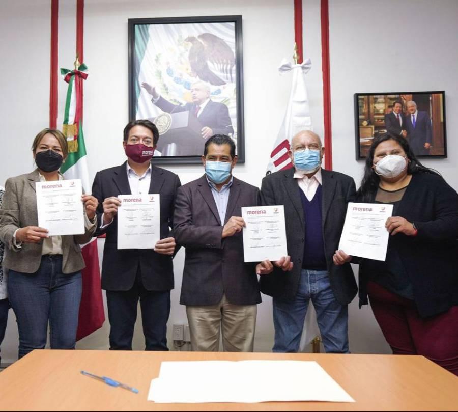 Morena y 'Unidos por un mejor país' firman convenio rumbo a 2021