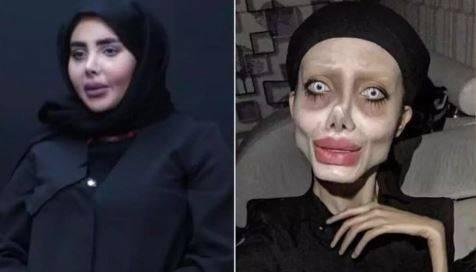 'Angelina Jolie zombie' deja la prisión, este es su verdadero rostro