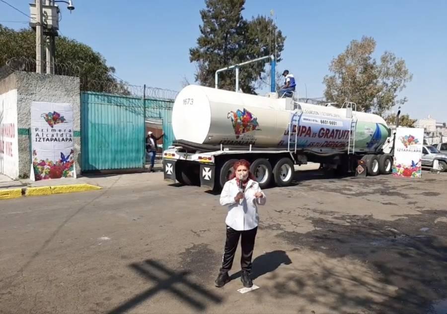 Distribuye Iztapalapa 1 520 millones de litros de agua