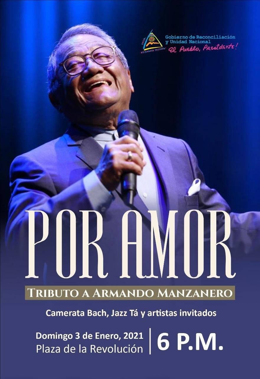 Nicaragua rendirá homenaje al cantautor Armando Manzanero