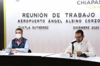 """Aeropuerto """"Ángel Albino Corzo"""" ofrece mayor desarrollo económico, asegura gobernador Rutilio Escandón"""
