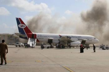 Una serie de explosiones sacuden aeropuerto en Yemen