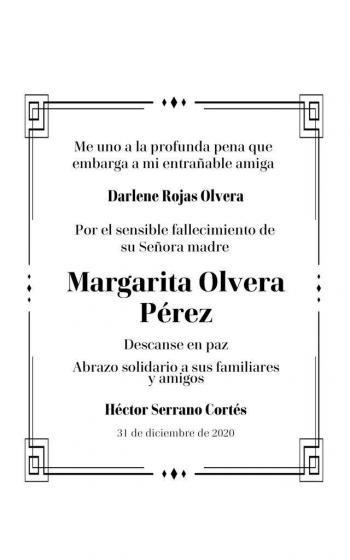 Fallece Madre de Darlene Rojas Olvera