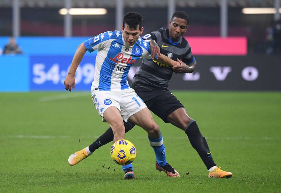 """Chucky"" Lozano empieza el 2021 anotando con Napoli ante Cagliari"